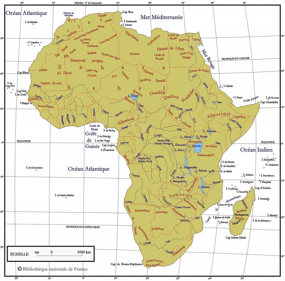 Senegal Afrique Du Sud Carte.Afrique Geographie