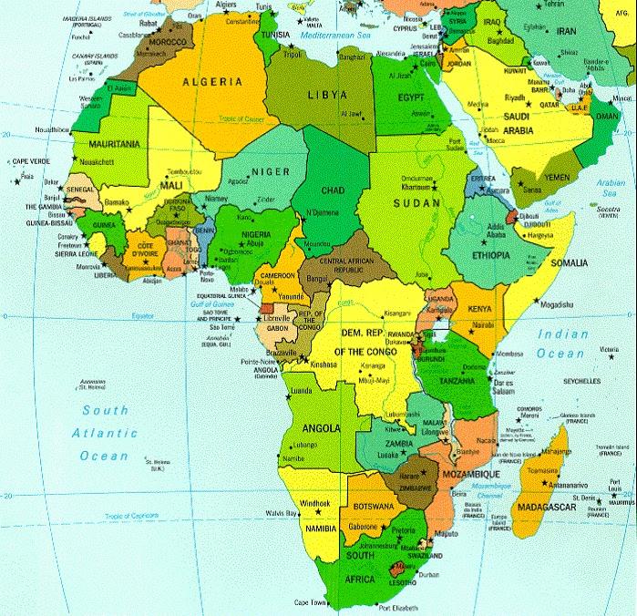 Carte Afrique Egypte.Afrique Geographie