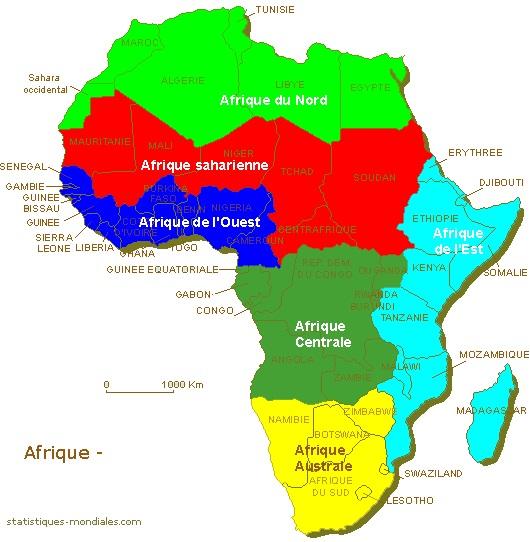 Carte De Lafrique Fleuves.Afrique Geographie
