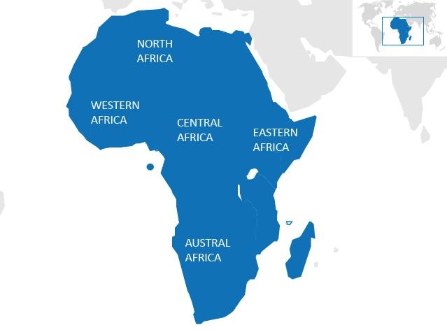 Carte Afrique Ouest Et Centrale.Afrique Geographie