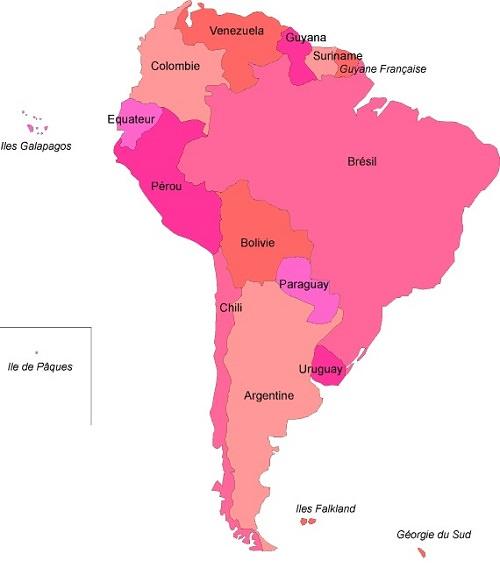 Carte Amerique Du Sud Et Panama.Amerique Du Sud Geographie