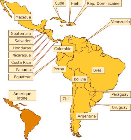 Carte Amerique Latine Avec Fleuves.Amerique Du Sud Geographie