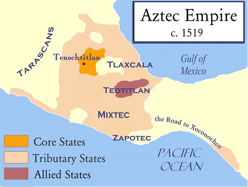 Azteque-empire-azteque-Tenochtitlan-Tlaxcala-Teotitlan-Mixtec-Zapotec-empire-Azteque