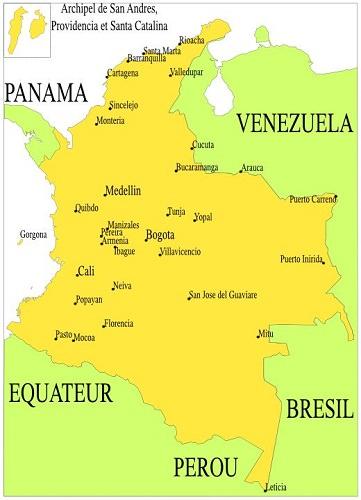 Carte Amerique Du Sud Colombie.Amerique Du Sud Geographie