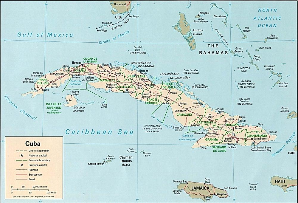 Carte Cuba Costa Rica.Amerique Du Sud Geographie