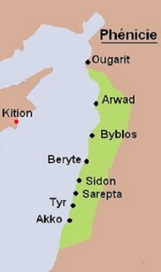 phenicie-liban-Tyr-Byblos-Sidon-Ougarit.