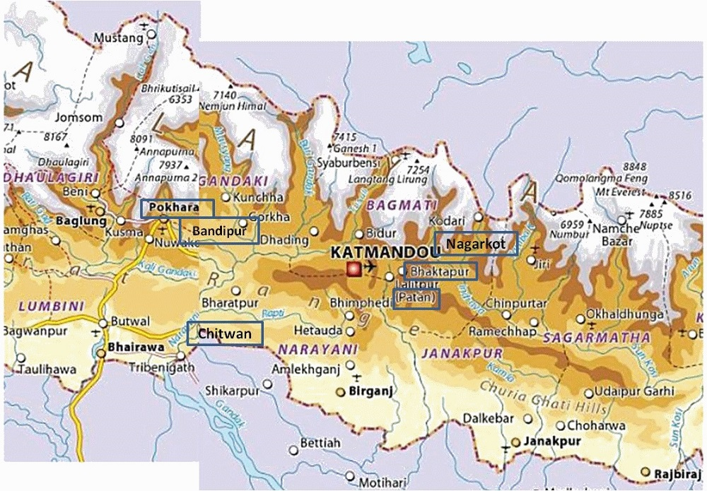 Carte Geographique Chine Sud.Asie Geographie