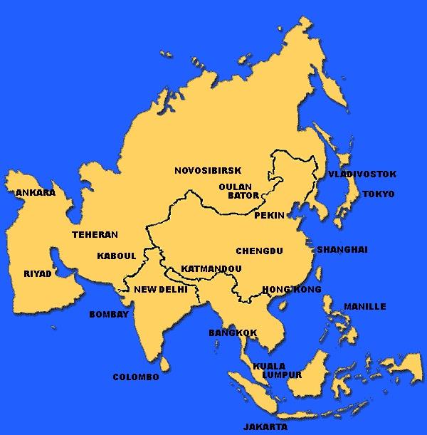 Carte Asie Pekin.Asie Geographie