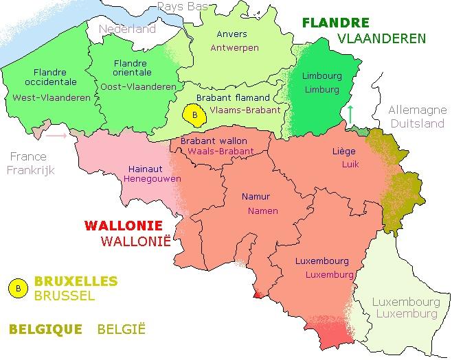 Carte Belgique Liege.Belgique Geographie
