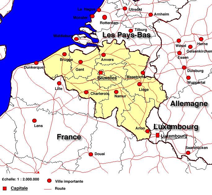 Fabuleux Belgique géographie KM42
