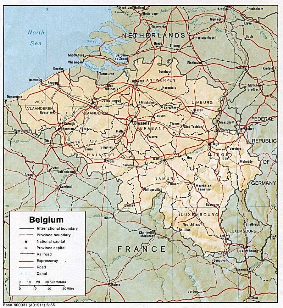 Carte Belgique Canaux.Belgique Geographie