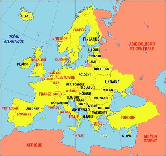 carte europe centrale