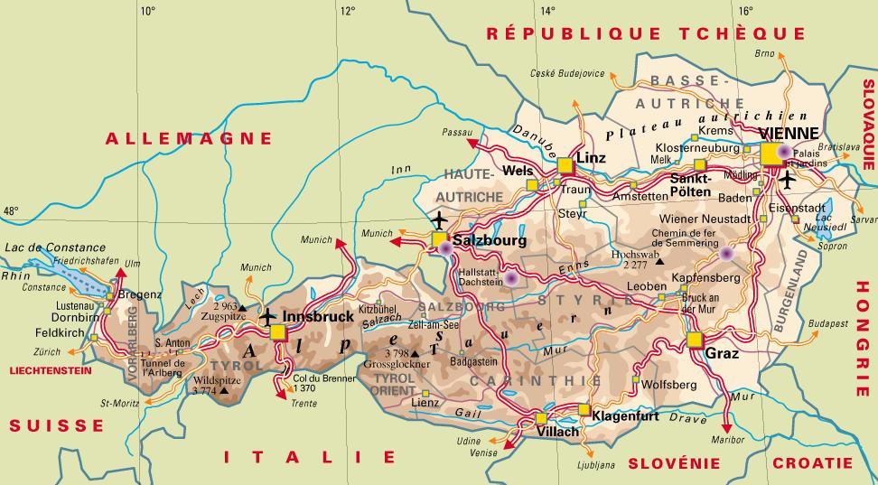 Carte Détaillée Du Tyrol Autrichien | My blog