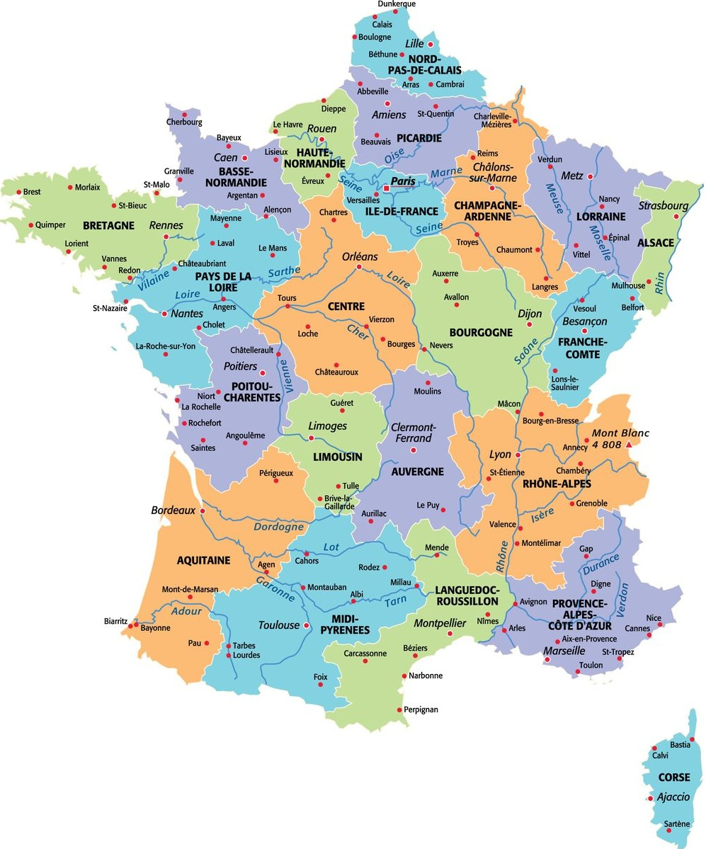 Lyon sur la carte de France