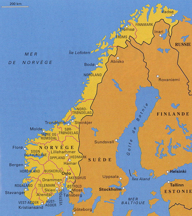 la norvege carte europe