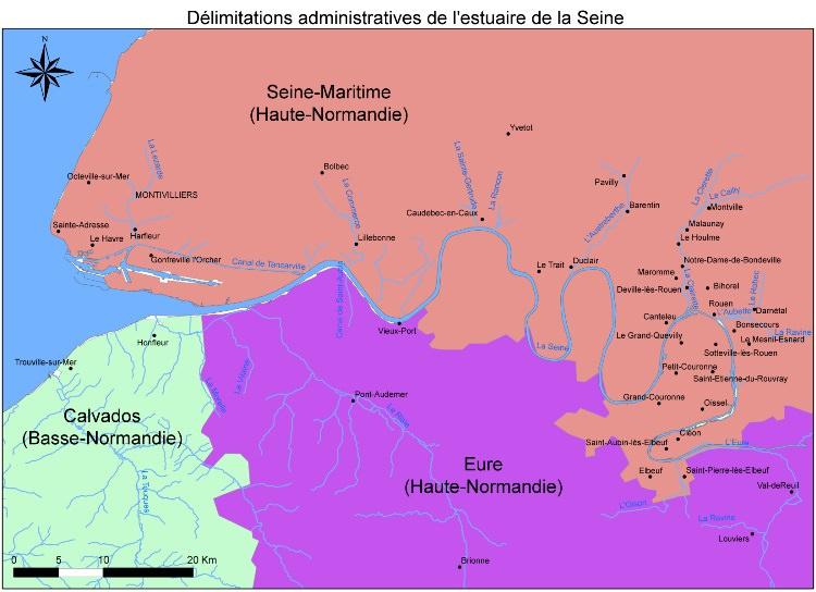 Fleuves et rivieres de france for Haute normandie basse normandie