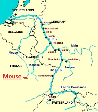 Meuse-Moselle-Rhin-France-Belgique-Luxembourg-Pays-Bas-Europe-mer-du-Nord.