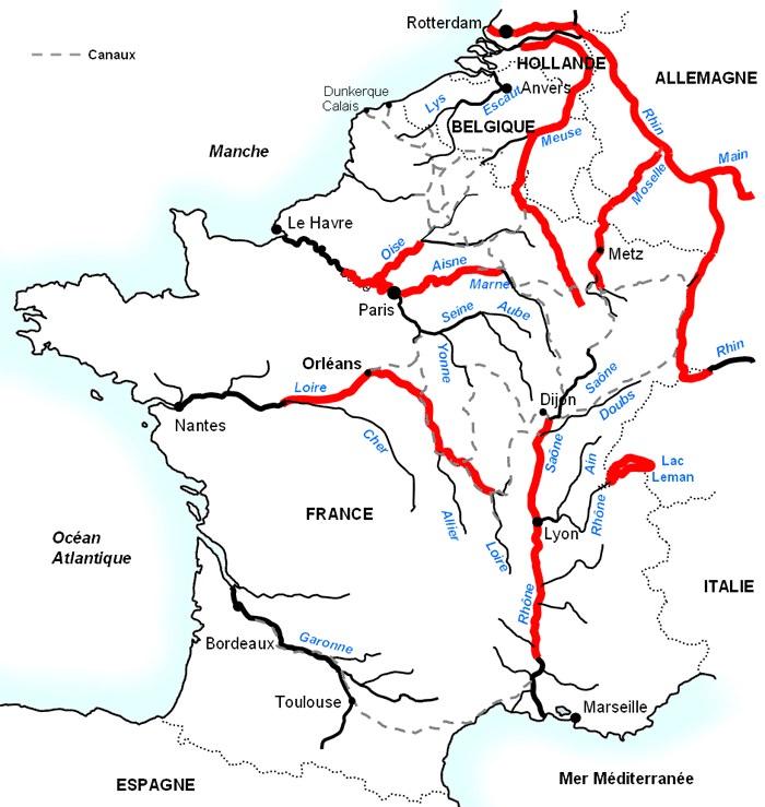 Carte Fleuve Bordeaux.Fleuves Et Rivieres De France