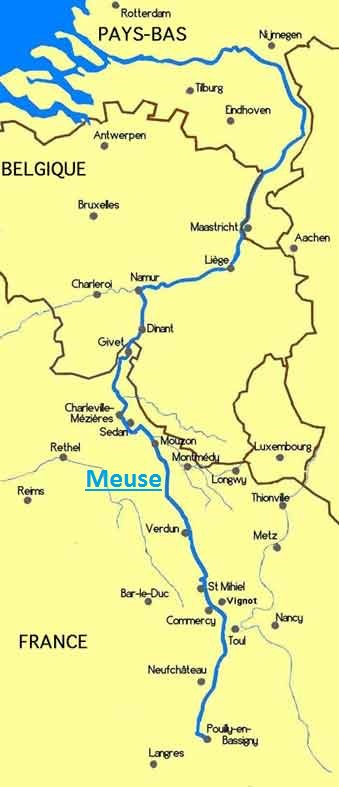 Meuse-carte-de-la-Meuse-France-Belgique-Pays-Bas-Europe.