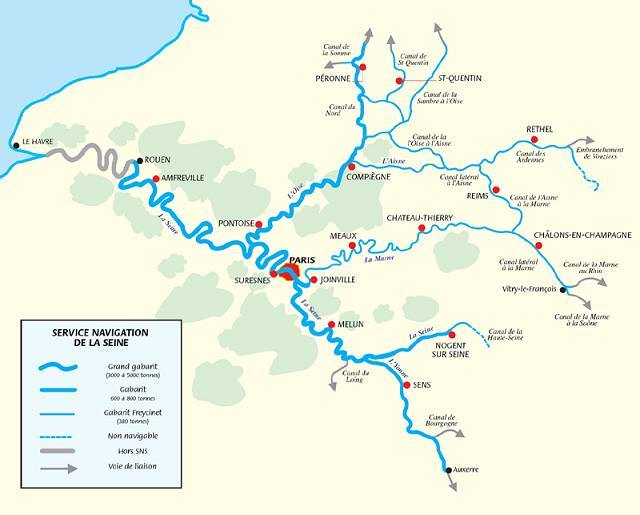 La Seine Carte De France   popkensburg