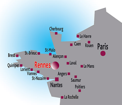 carte de france quimper