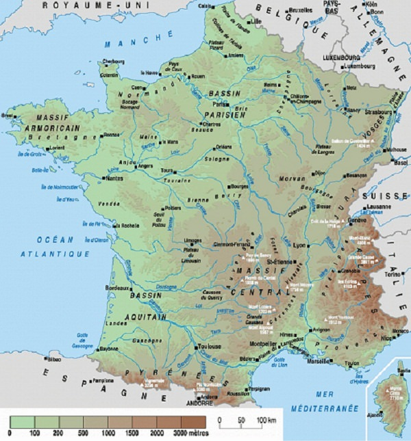 carte des fleuves et rivieres de france - Photo