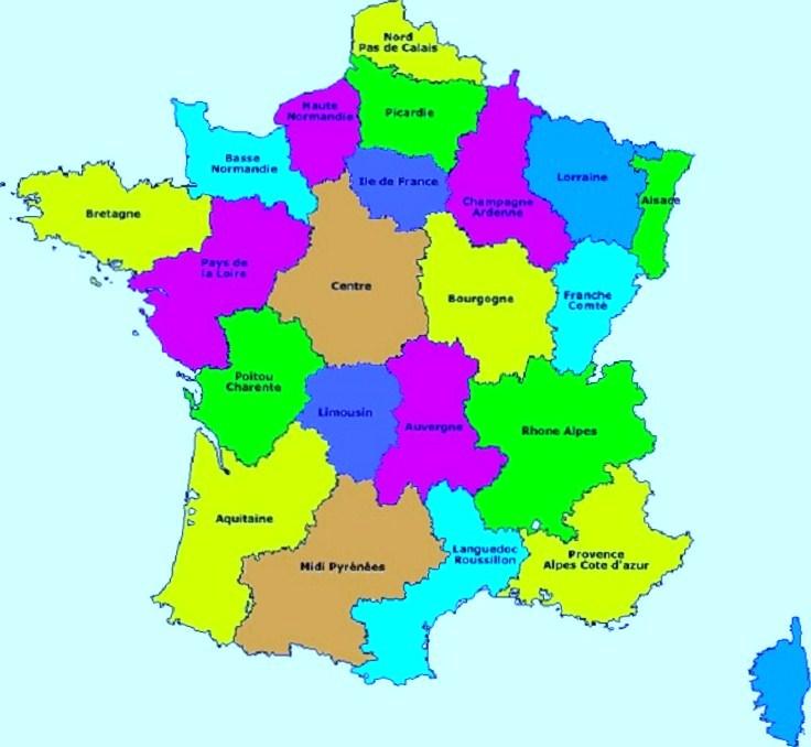 carte de france et region