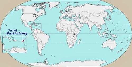 saint barthelemy carte geographique