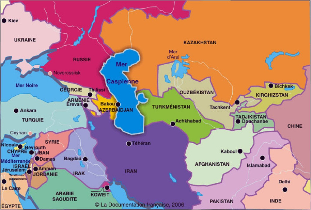 Kazakhstan Carte Monde   casamagenta