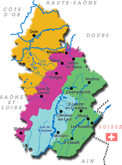 Jura communes du jura dole arbois mouchard lons le saunier for Piscine de lons le saunier