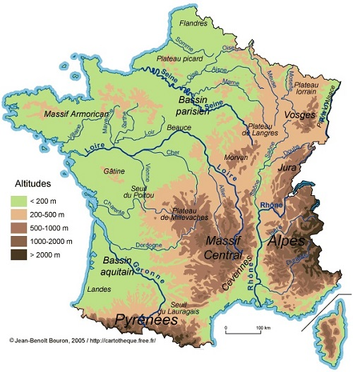 carte de france pyrenees