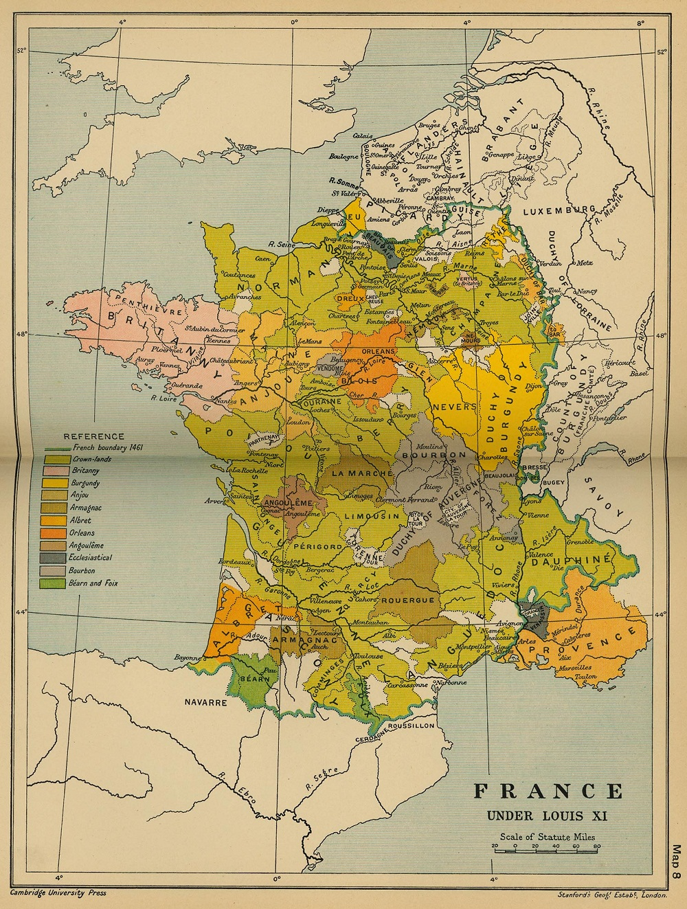France-sous-louis-XI-royaume-de-France-en-1461