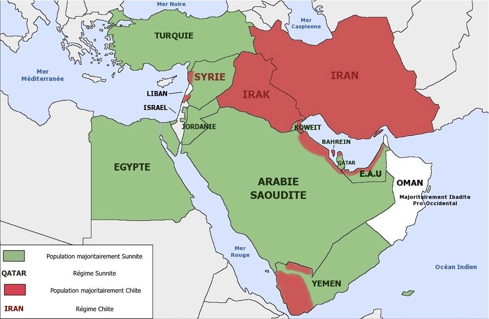 Moyen Orient et pays limitrophes géographie