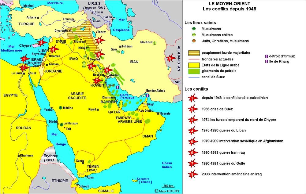 Carte Moyen Orient Palestine.Moyen Orient Et Pays Limitrophes Geographie