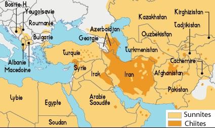 Immigration - Page 2 Sunnite-Chiite-carte-de-l-Islam-Chiite-et-Sunite-Iran-Iraq-Syrie-Turquie-Egypte-Jordanie-Arabie-Saoudite-Etats-Arabes-Unis-Yemen-Islam-Chiite-et-Sunnite-
