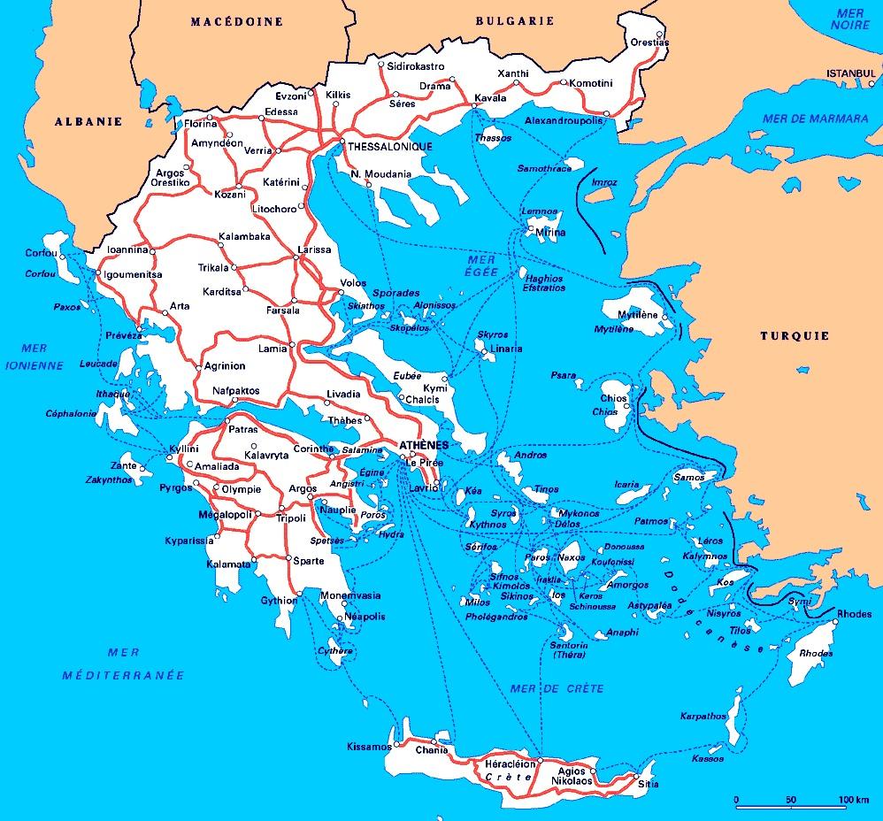 Grèce Turquie Carte