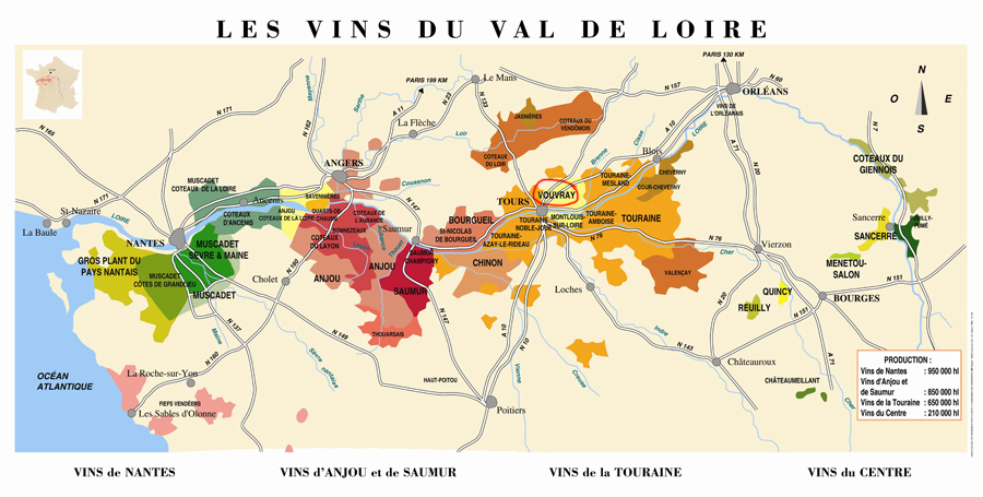 val de loire carte de france