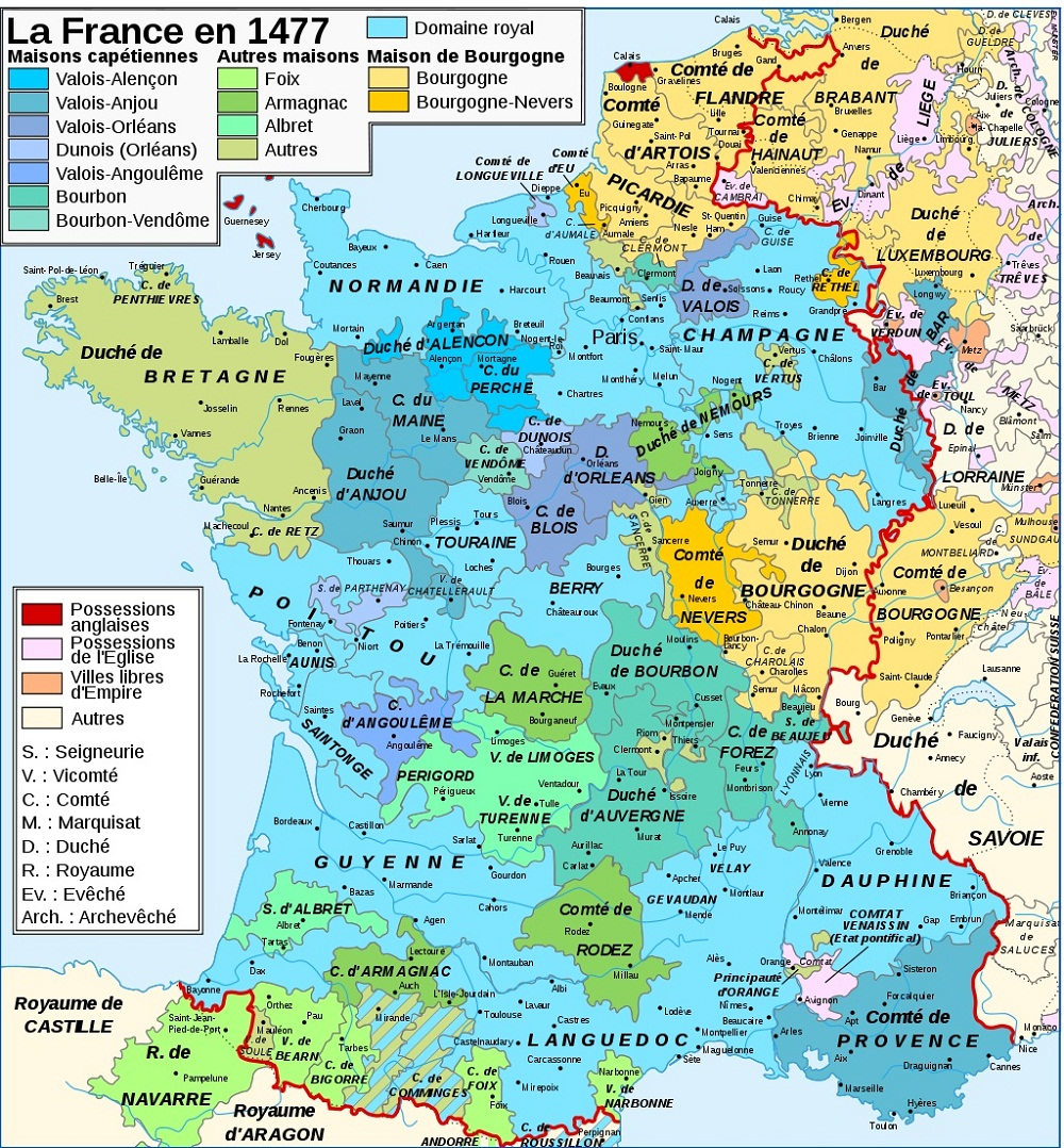 la carte geographique du france
