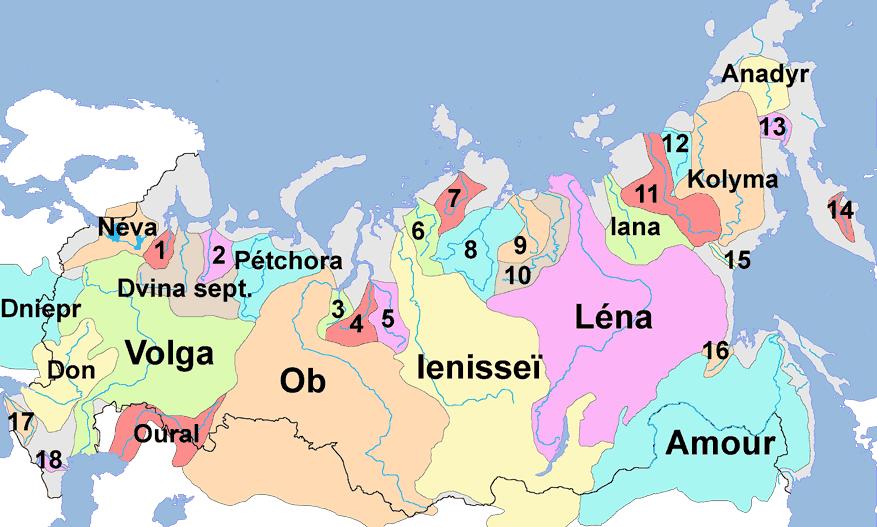 Russie-fleuves-de-russie-carte-reseau-fluvial-volga-amour-petchora
