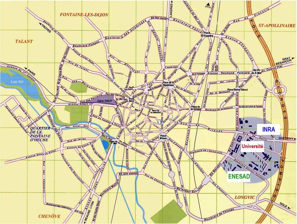 Plan Dijon Arts Et Voyages